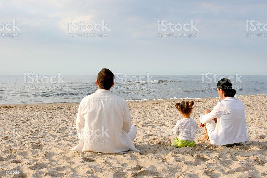 Family at beach royalty-free stock photo