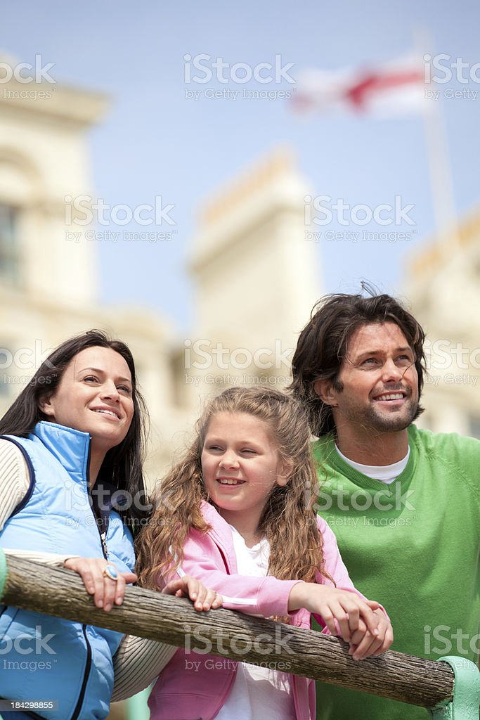 Family at Brighton, England royalty-free stock photo
