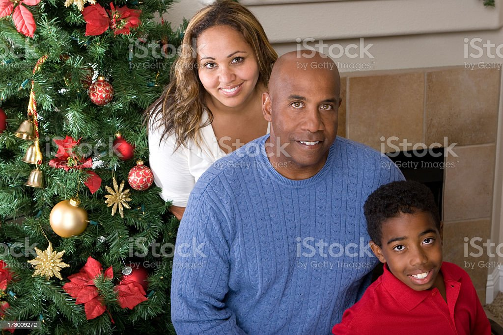 Family at Christmas royalty-free stock photo