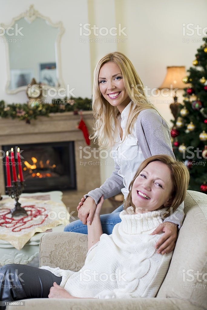 Family at Christmas royalty-free stock photo