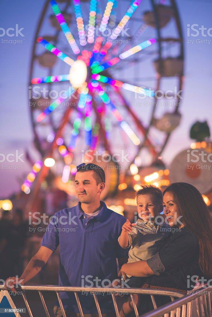 Family at Fair stock photo