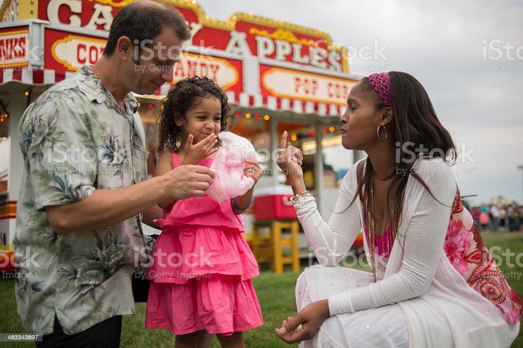 Family at Festival stock photo