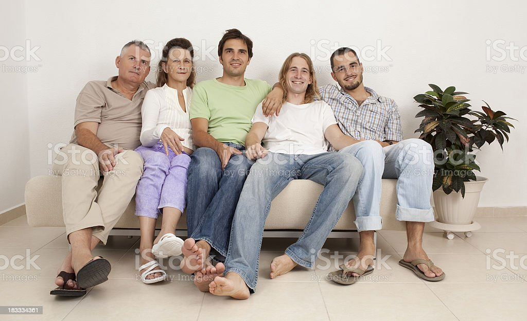 Family at home. royalty-free stock photo