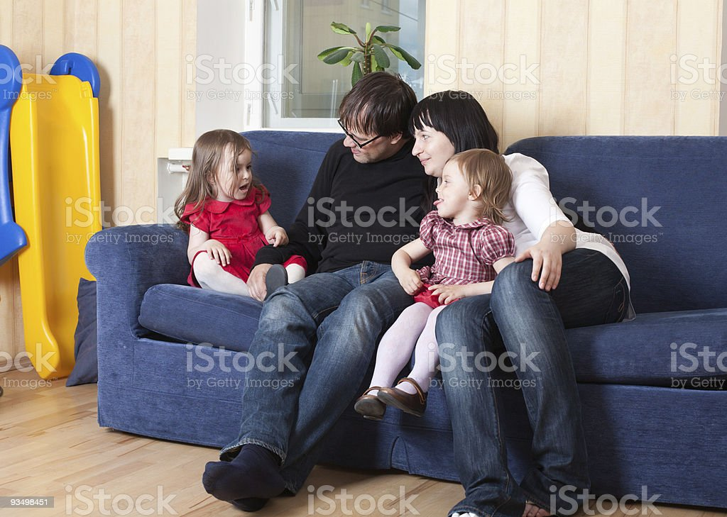 Family at home royalty-free stock photo