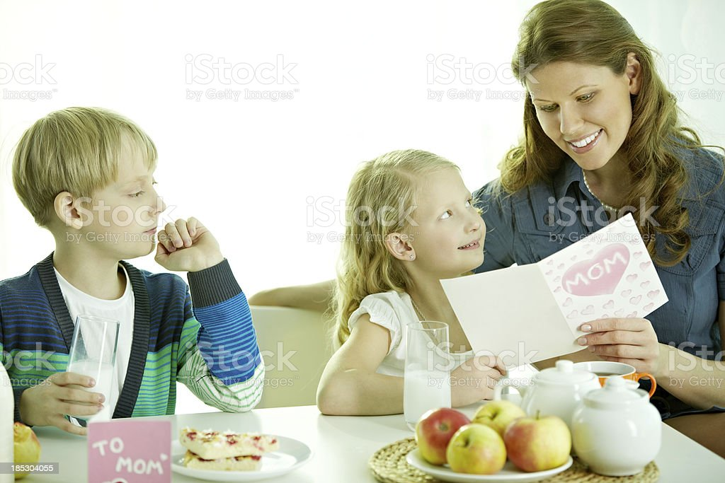 Family at Mothers Day royalty-free stock photo