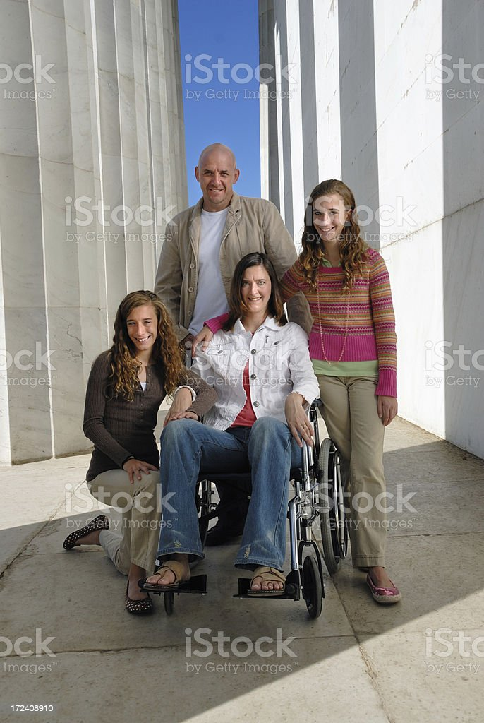 Family at the Lincoln Memorial royalty-free stock photo