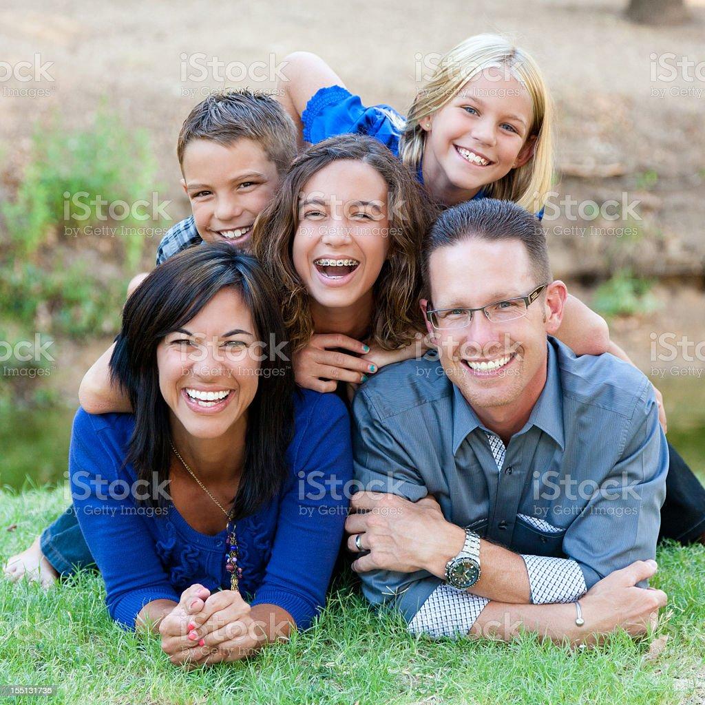 Family at the Park royalty-free stock photo