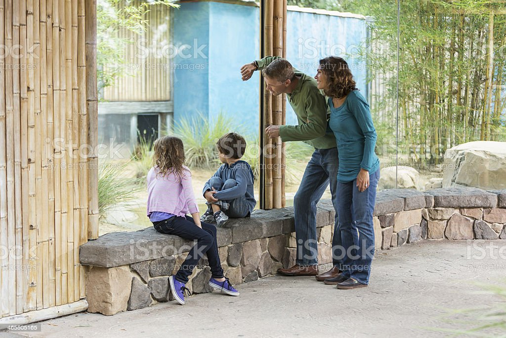 Family at the zoo royalty-free stock photo