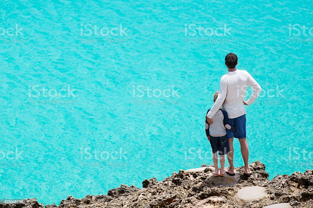 family at vacation stock photo