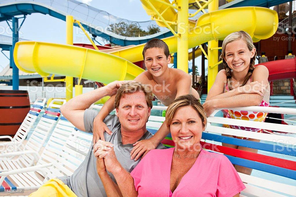 Family at water park royalty-free stock photo
