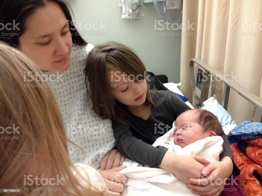 family baby stock photo