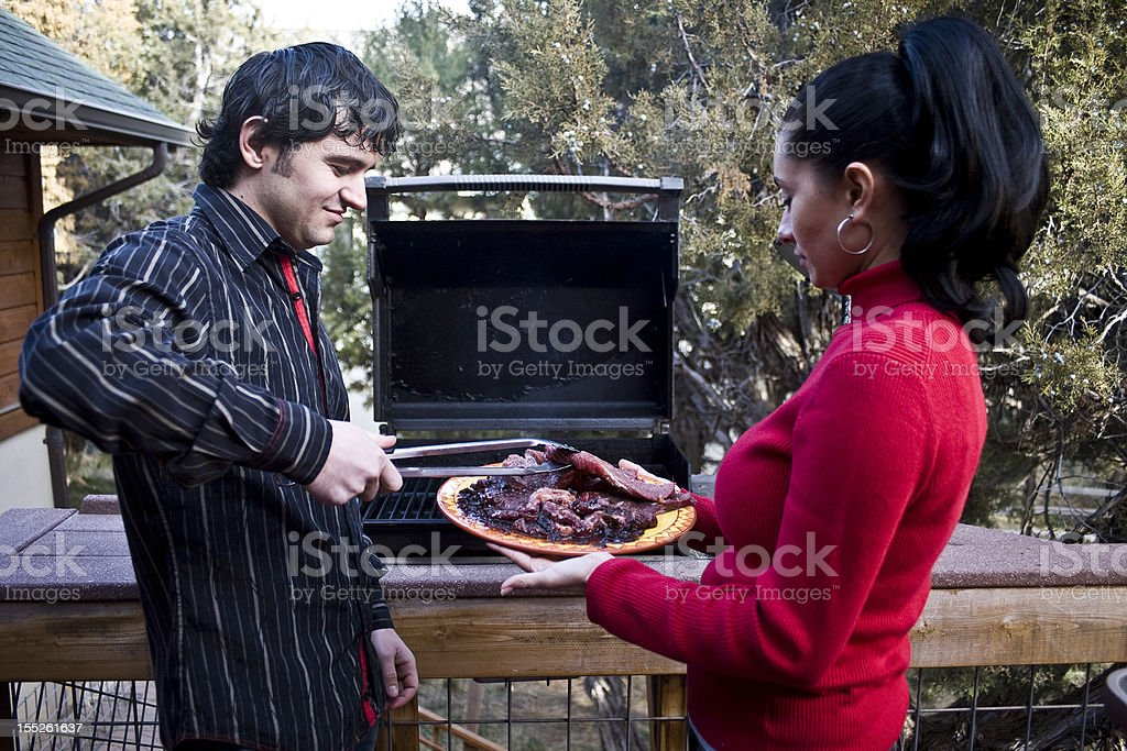 Family Barbeque royalty-free stock photo