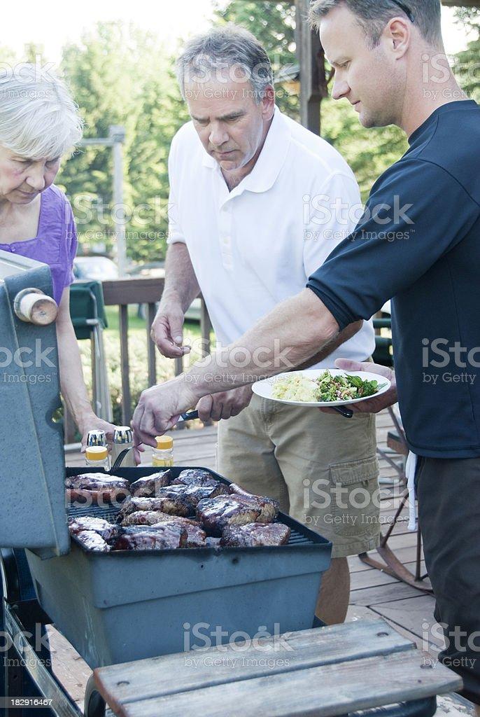 Family BBQ royalty-free stock photo