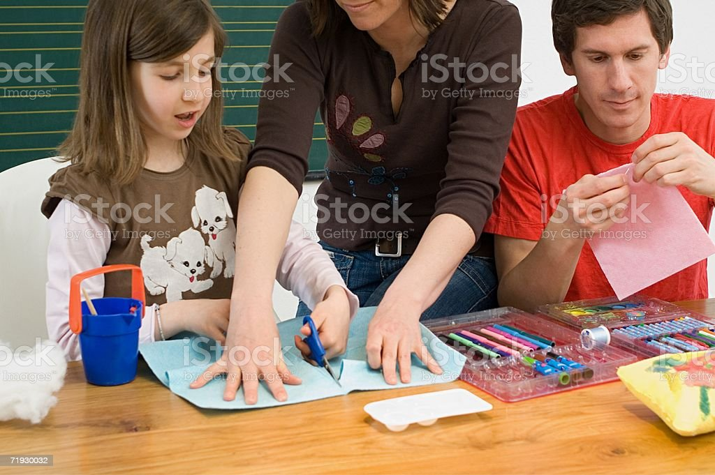 Family being creative royalty-free stock photo