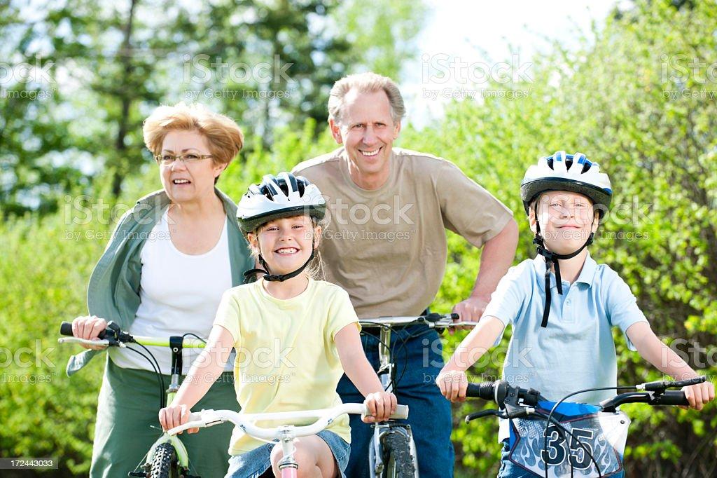 Family Bike Ride royalty-free stock photo