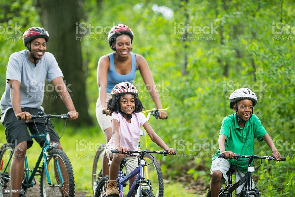 Family Bike Ride stock photo