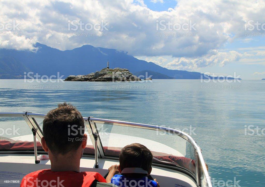 Family Boating Adventure stock photo