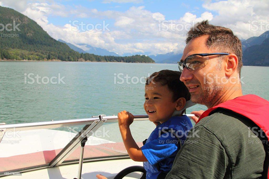 Family Boating Fun stock photo