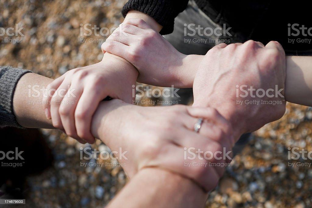 Family Bond Handshake royalty-free stock photo