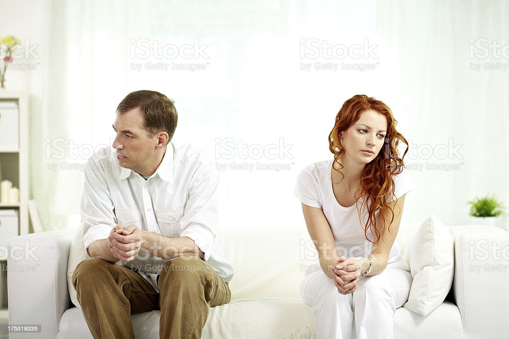 Family breakdown stock photo