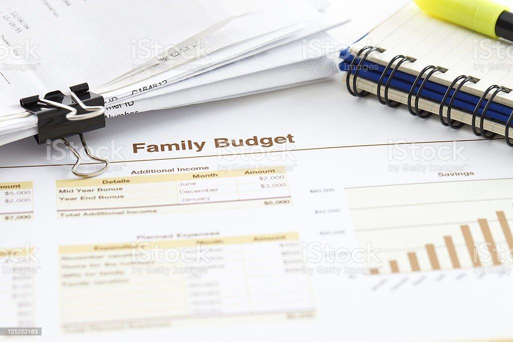 Family Budget stock photo