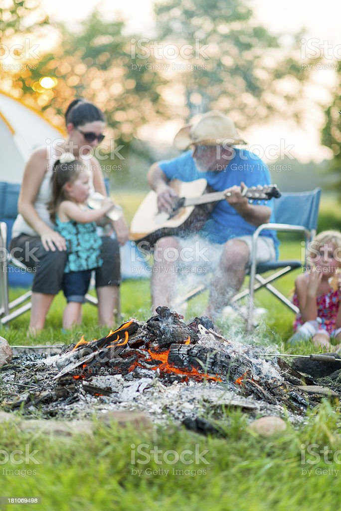 Family Campfire royalty-free stock photo