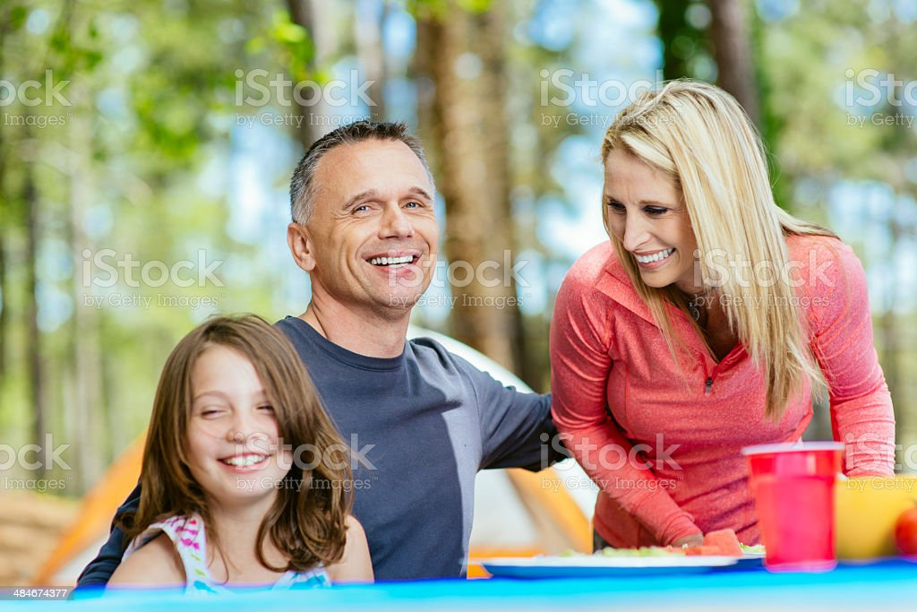 Family Camping royalty-free stock photo