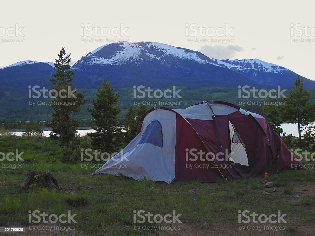Family Camping stock photo