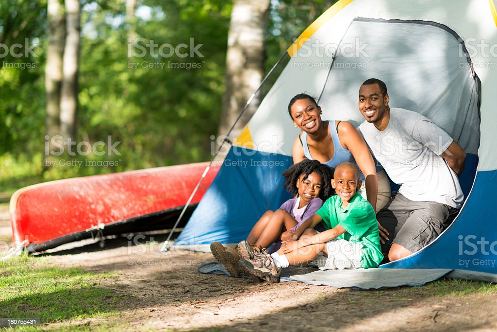 Family Camping Trip royalty-free stock photo