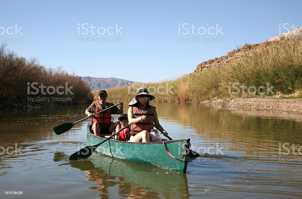 Family Canoe Fun stock photo