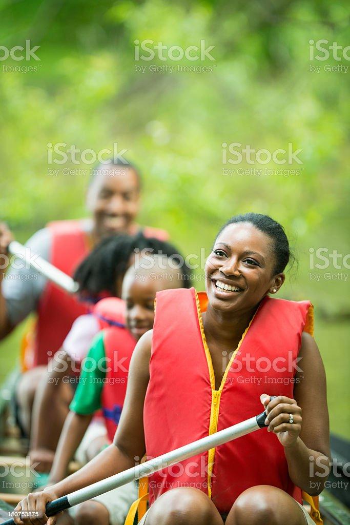 Family Canoe Trip royalty-free stock photo