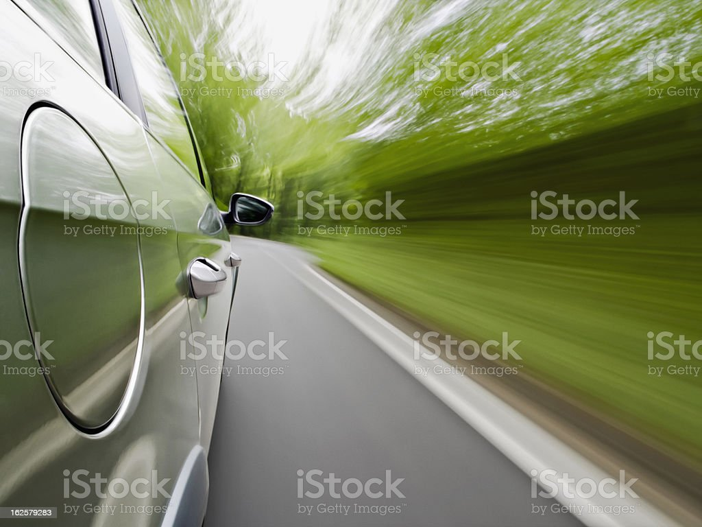 Family car driving royalty-free stock photo