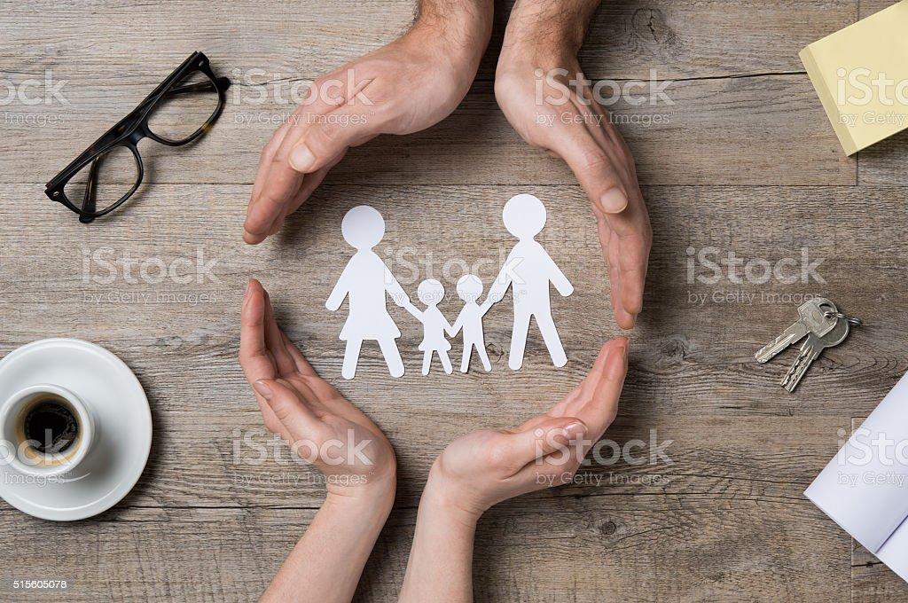 Família cuidado - fotografia de stock