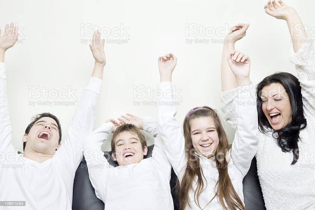 Family Celebrating royalty-free stock photo