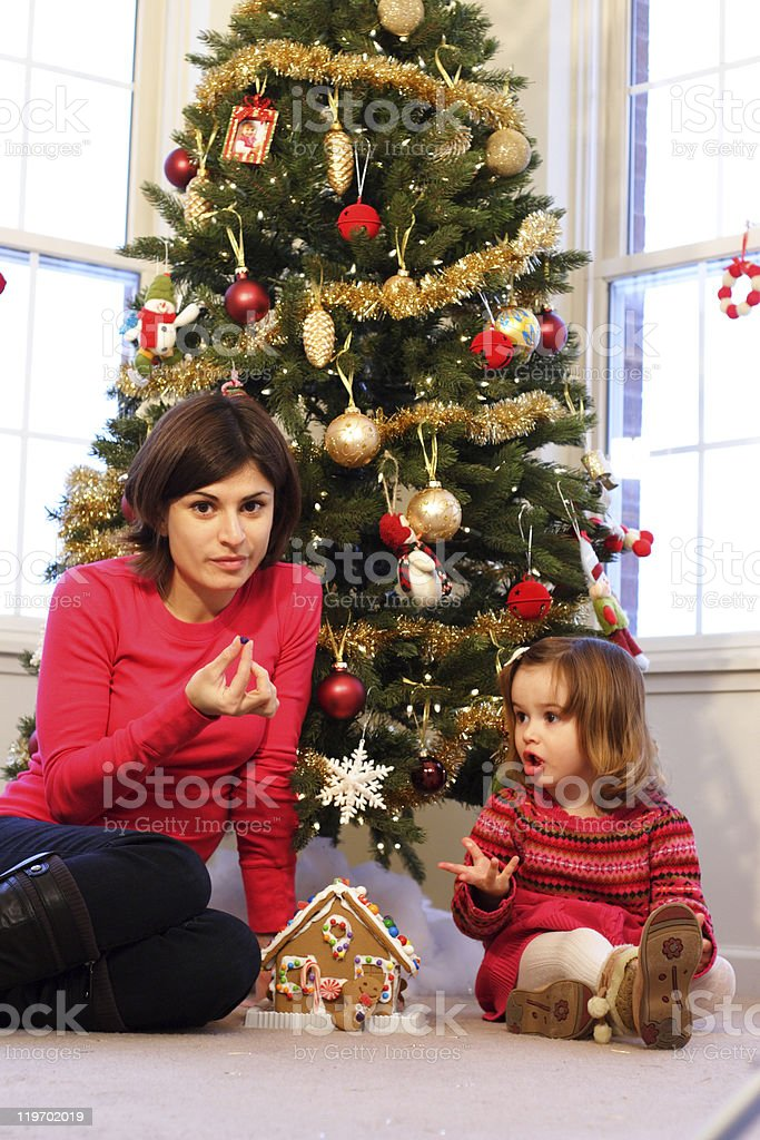 Family Christmas royalty-free stock photo