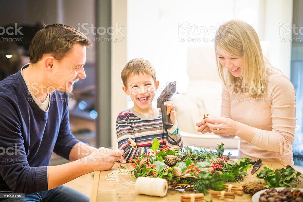 Family Christmas stock photo
