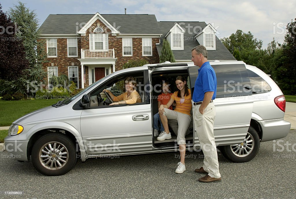 Family- Coming and going stock photo