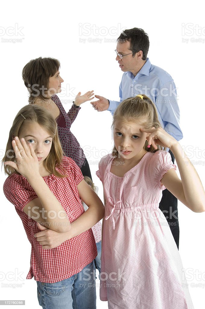 Family conflict royalty-free stock photo