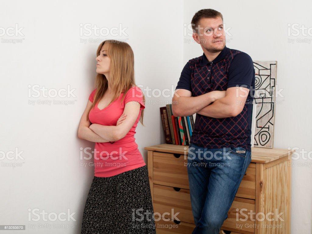 Family conflict, quarrel stock photo