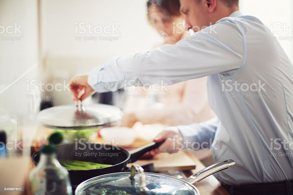 Family Cooking Food stock photo