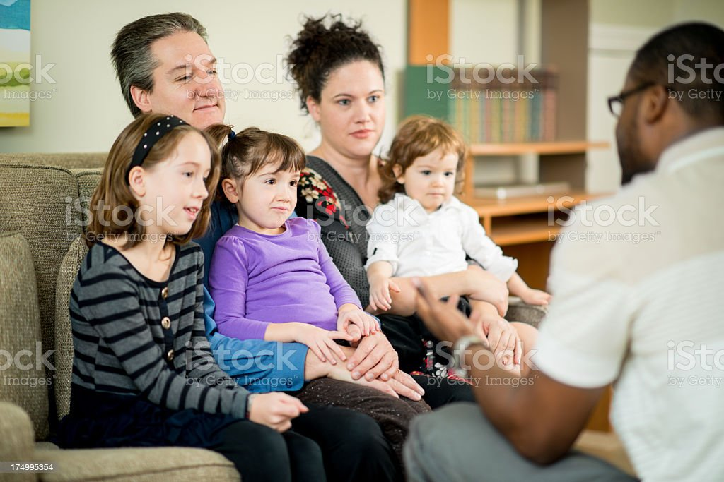 Family Counseling royalty-free stock photo