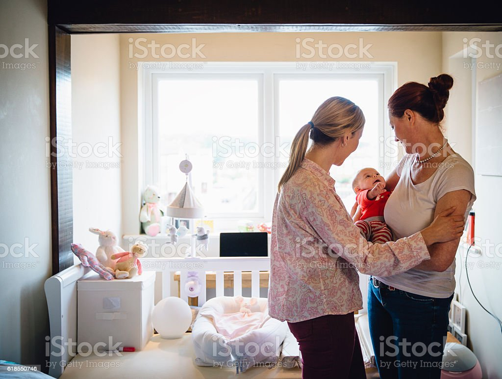 Family Cuddles stock photo
