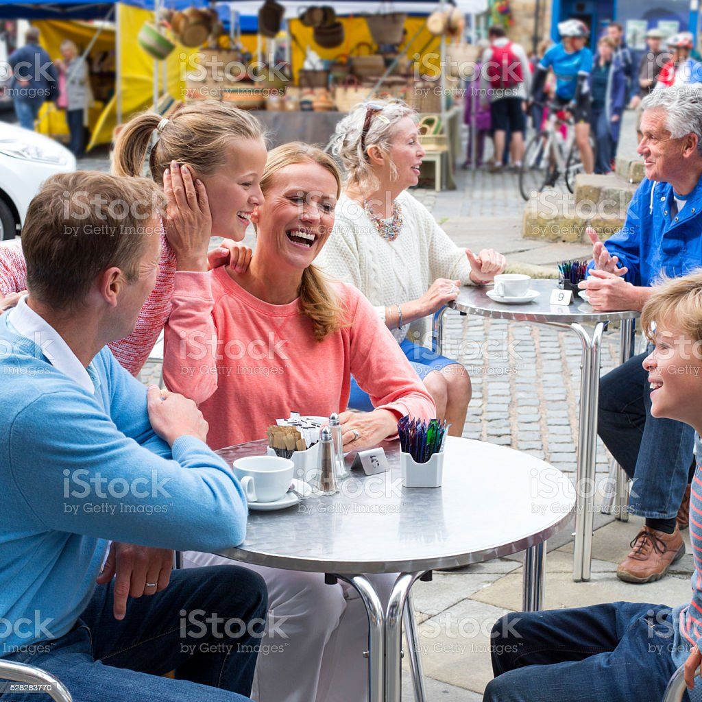 Family Day Out stock photo