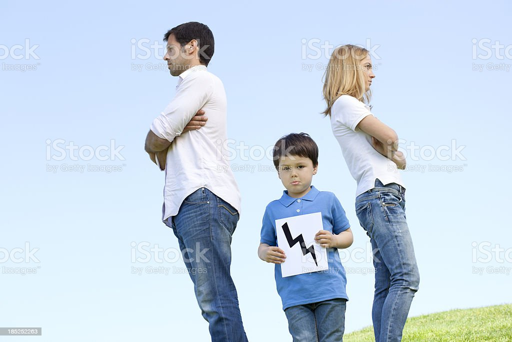 family difficulties royalty-free stock photo