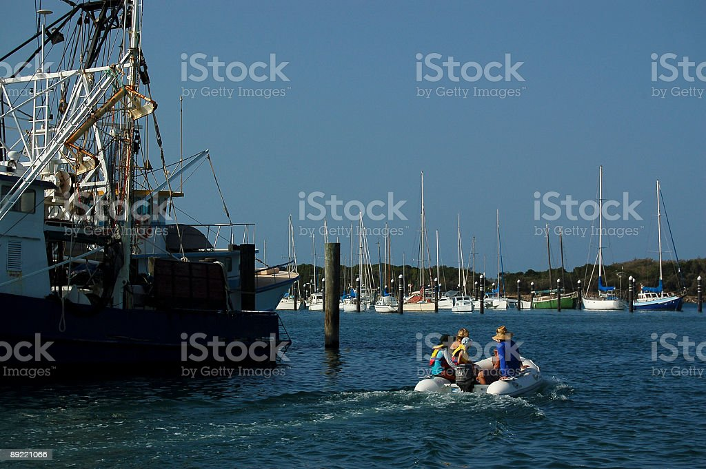Family Dingy Cruise royalty-free stock photo