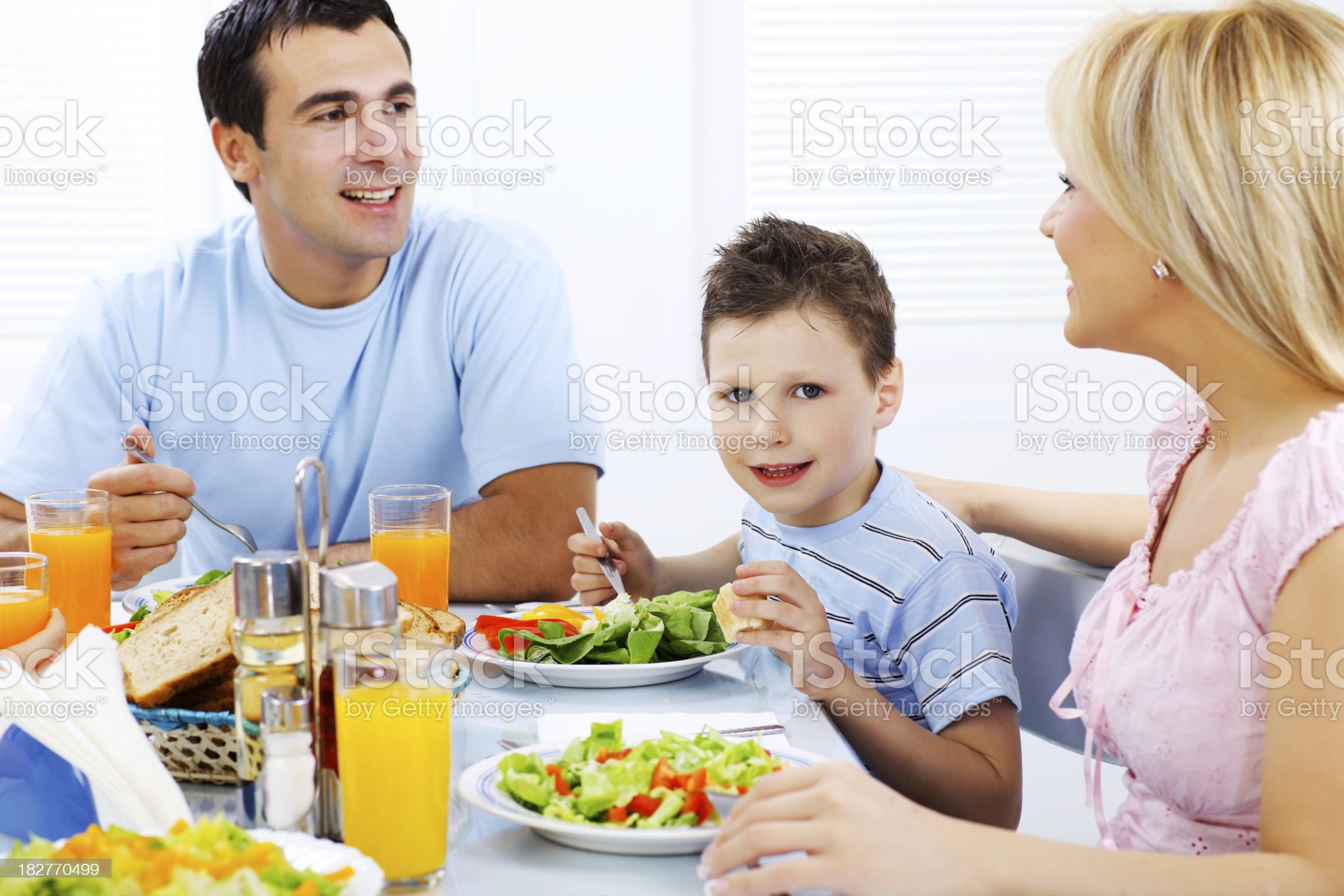 Family dining together. royalty-free stock photo