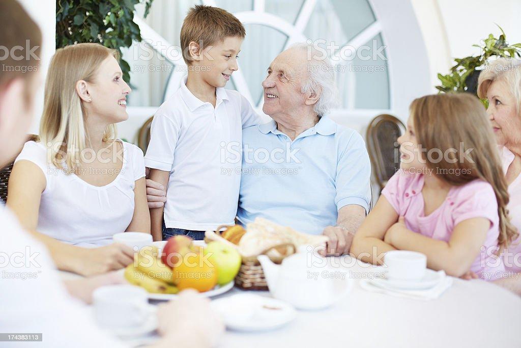 Family dinner royalty-free stock photo