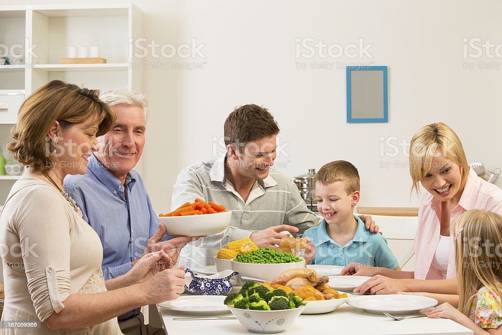 Family Dinner royalty-free stock photo