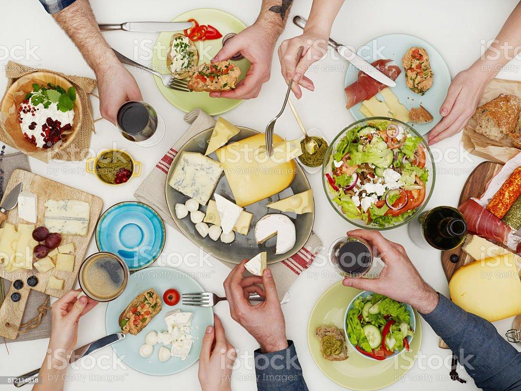 Family dinner stock photo