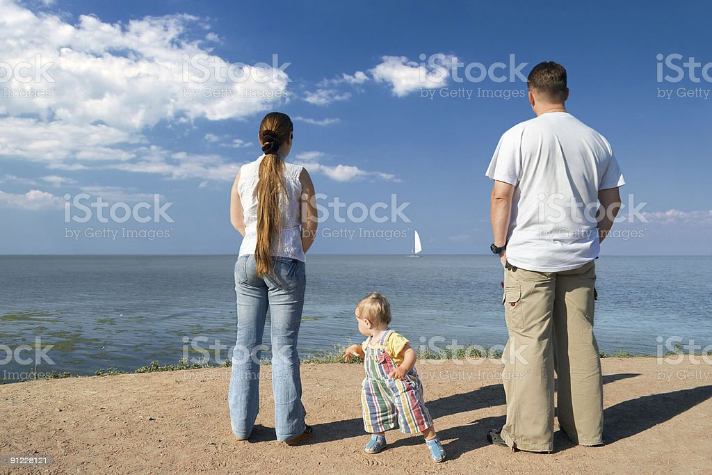 Family dreaming royalty-free stock photo